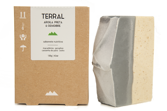 Sabonete Nutritivo Argila Preta Terral 125g