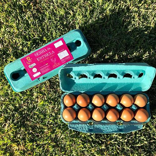 Ovos Caipiras Orgânicos Serra da Estrela - 1 dúzia