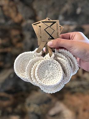 Ecopads Capri Crochê  3 discos de algodão