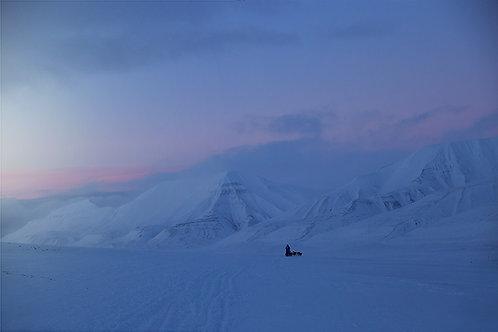 Februar light Svalbard