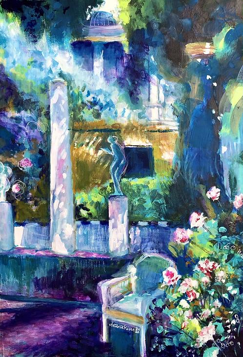 Homage to Joaquin Sorolla's Garden paintings