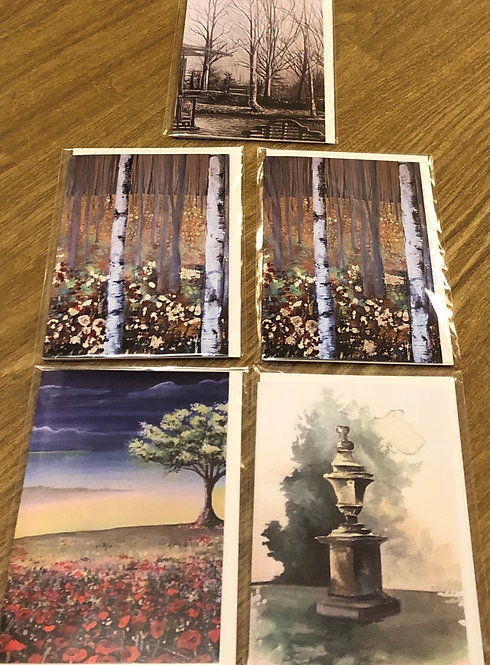 Art Cards Set of 5 - Nature