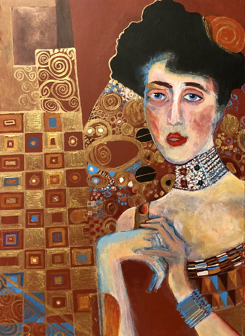 Homage to Klimt's Woman in Gold