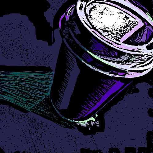 Coffee Digital Print Purple