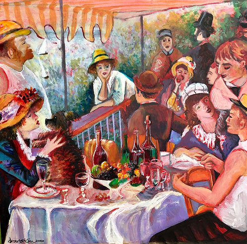 Homage to Renoir's 'Luncheon of the boating party'
