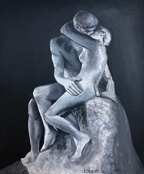Homage to Rodin's The Kiss