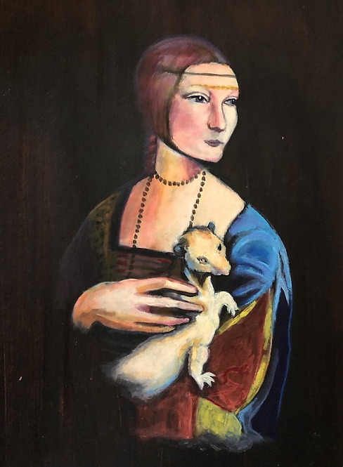 Homage to Da Vinci's Lady with an Ermine