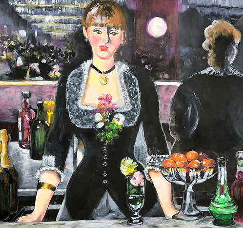 Homage to Manet's A Bar at the Folies-Bergere