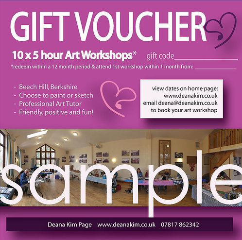 10 x 5 hr workshop in Berkshire