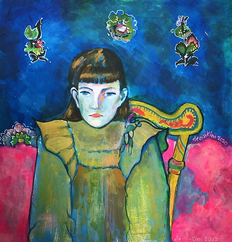 Homage to Gauguin's Portrait of Jeanne Goupil
