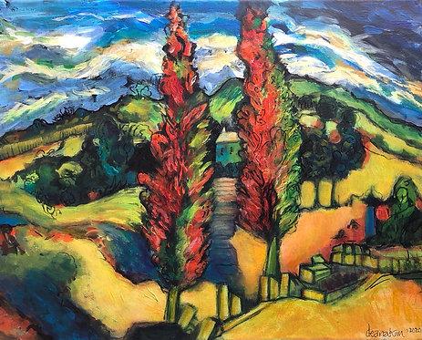 Homage to Van Gogh's Poplars