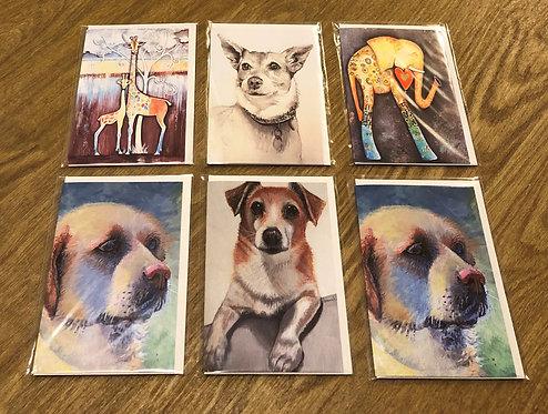 Art Cards Set of 6 - Animals