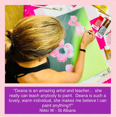 1 to 1 Art Lesson - Painting or Drawing - in your home