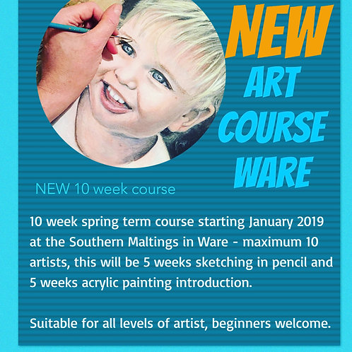 10 week Art Course in Ware - Drawing and Painting