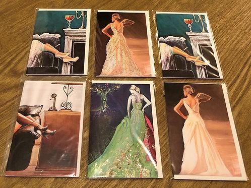 Art Cards Set of 6 - Femme