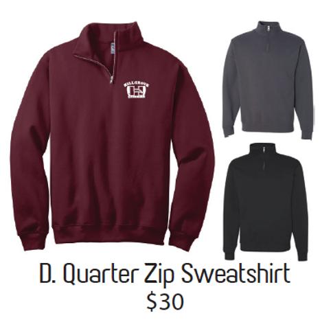 D.Quarter Zip Sweatshirt
