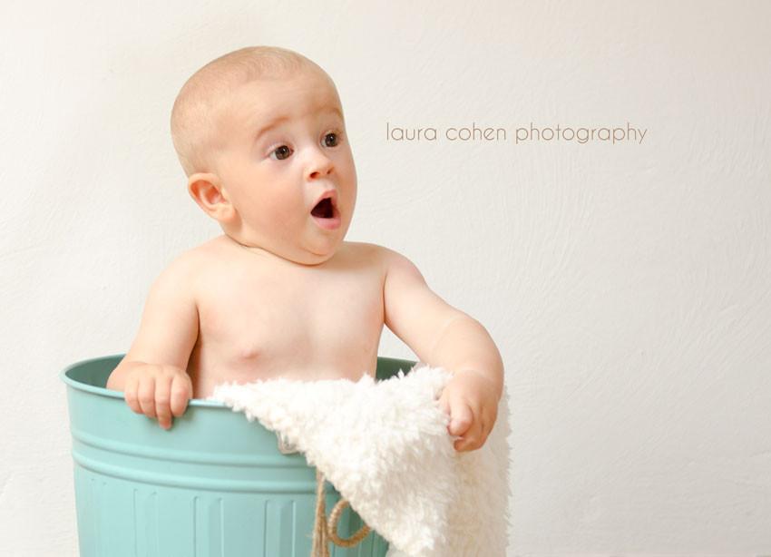 baby boy looking surprised