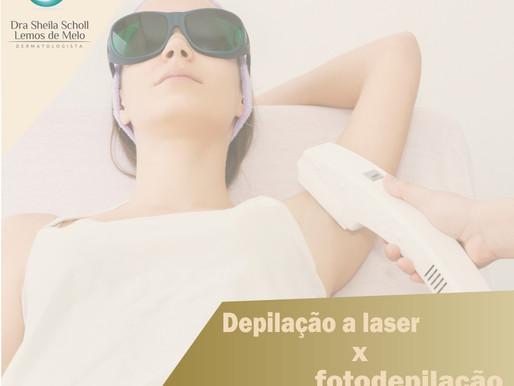 Depilação a laser versus fotodepilação: