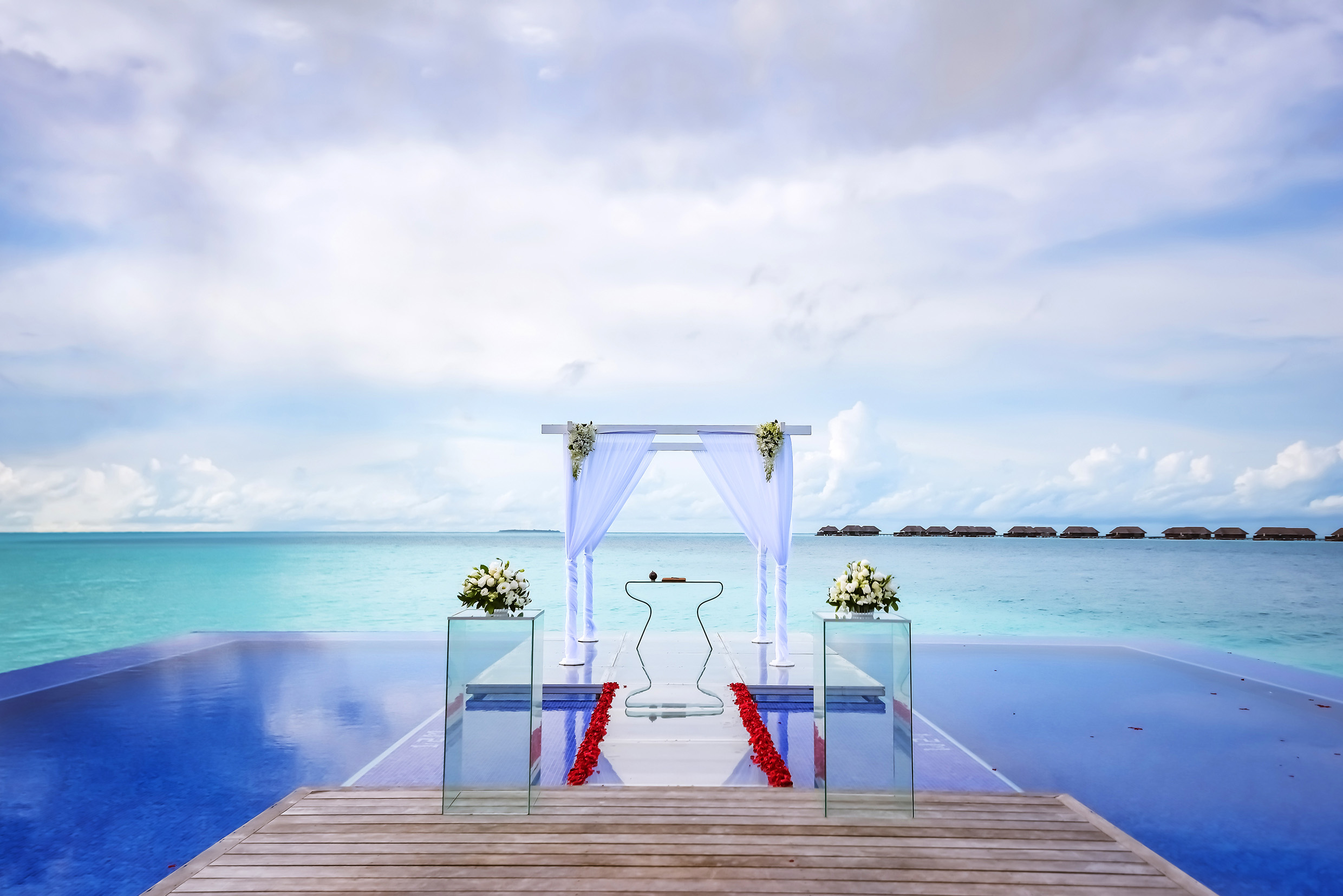 infinity pool wedding image