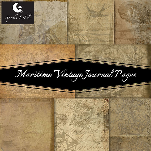 Maritime Vintage Journal Pages