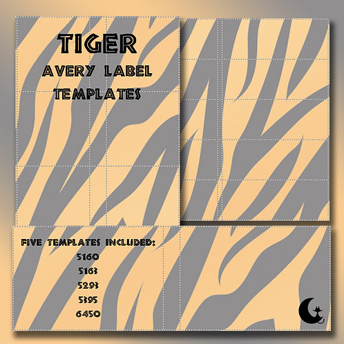 Tiger Print (Avery Labels)