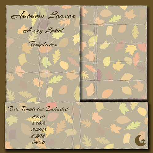 Autumn Leaves (Avery Labels)