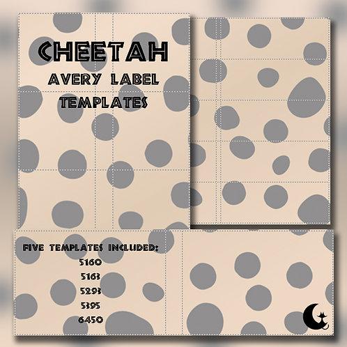 Cheetah Print (Avery Labels)