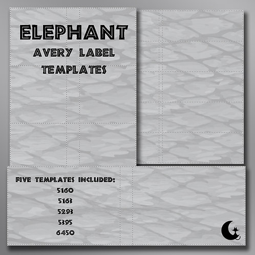 Elephant Print (Avery Labels)