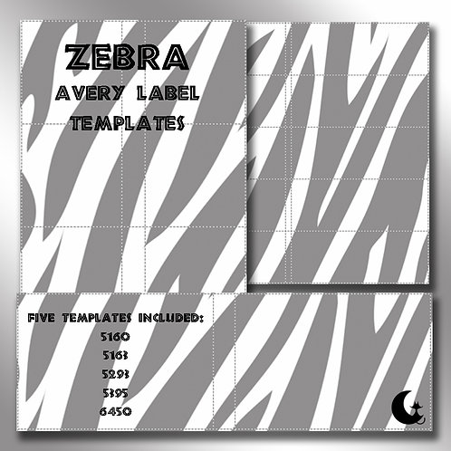 Zebra Print (Avery Labels)