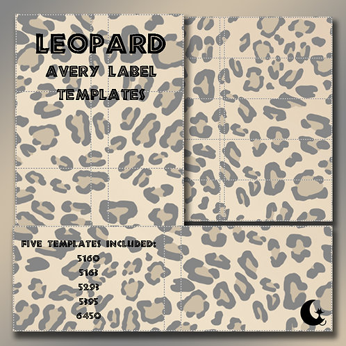 Leopard Print (Avery Labels)