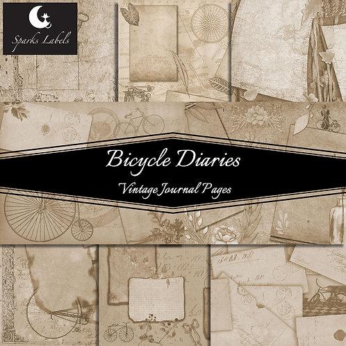 Bicycle Diaries Vintage Journal Pages