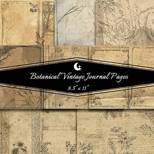 Botanical Vintage Journal Pages