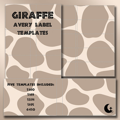 Giraffe Print (Avery Labels)