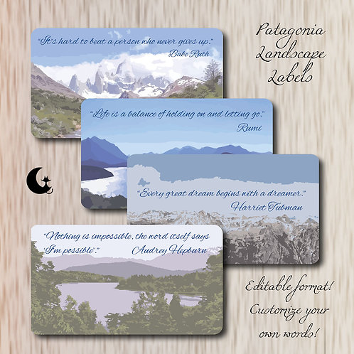 Patagonia All Occassion Labels (Editable!)