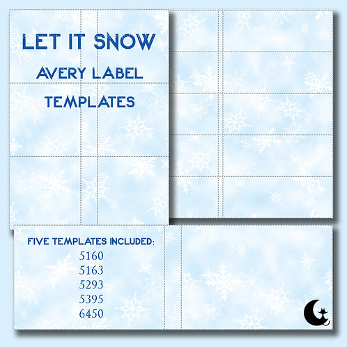 Let It Snow (Avery Labels)