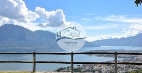 BRIONE s/MINUSIO -Villa con Giardino, Piscina, Vista e Rustico -Villa mit Garten, Rustico, Pool