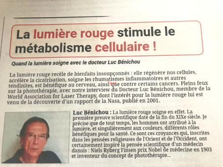 Article paru dans la presse, sur la lumière rouge