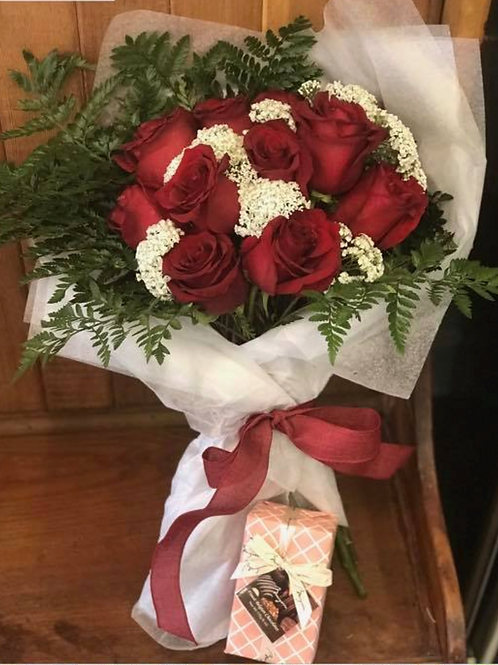 Premium Lovely in Red Rose Bouquet