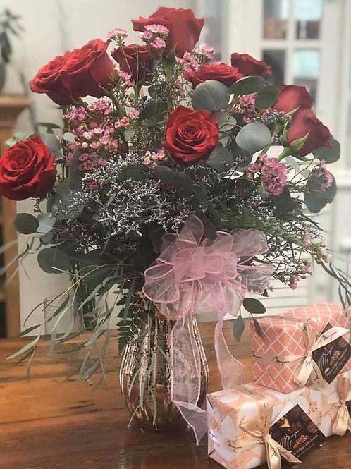 Premium Red Rose Arrangement