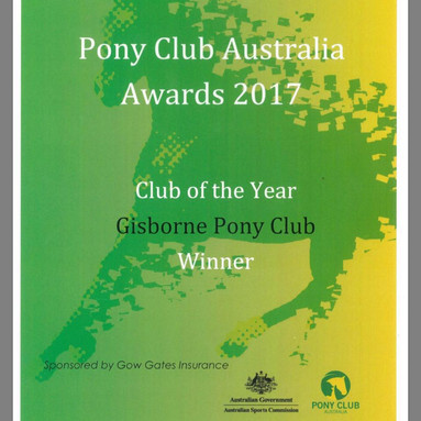 Pony Club of the Year Award