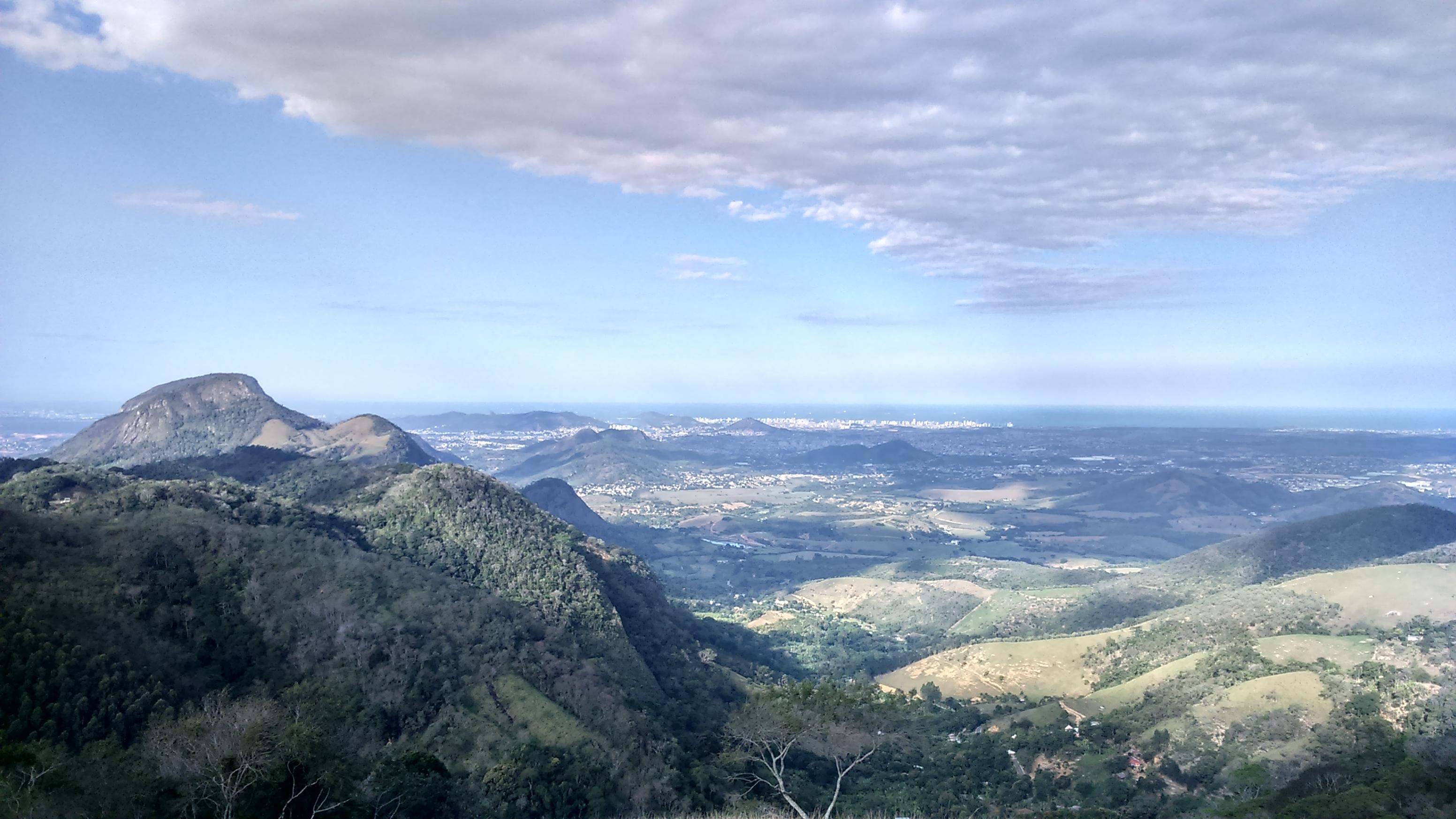 Visual de Vila Velha ao fundo.