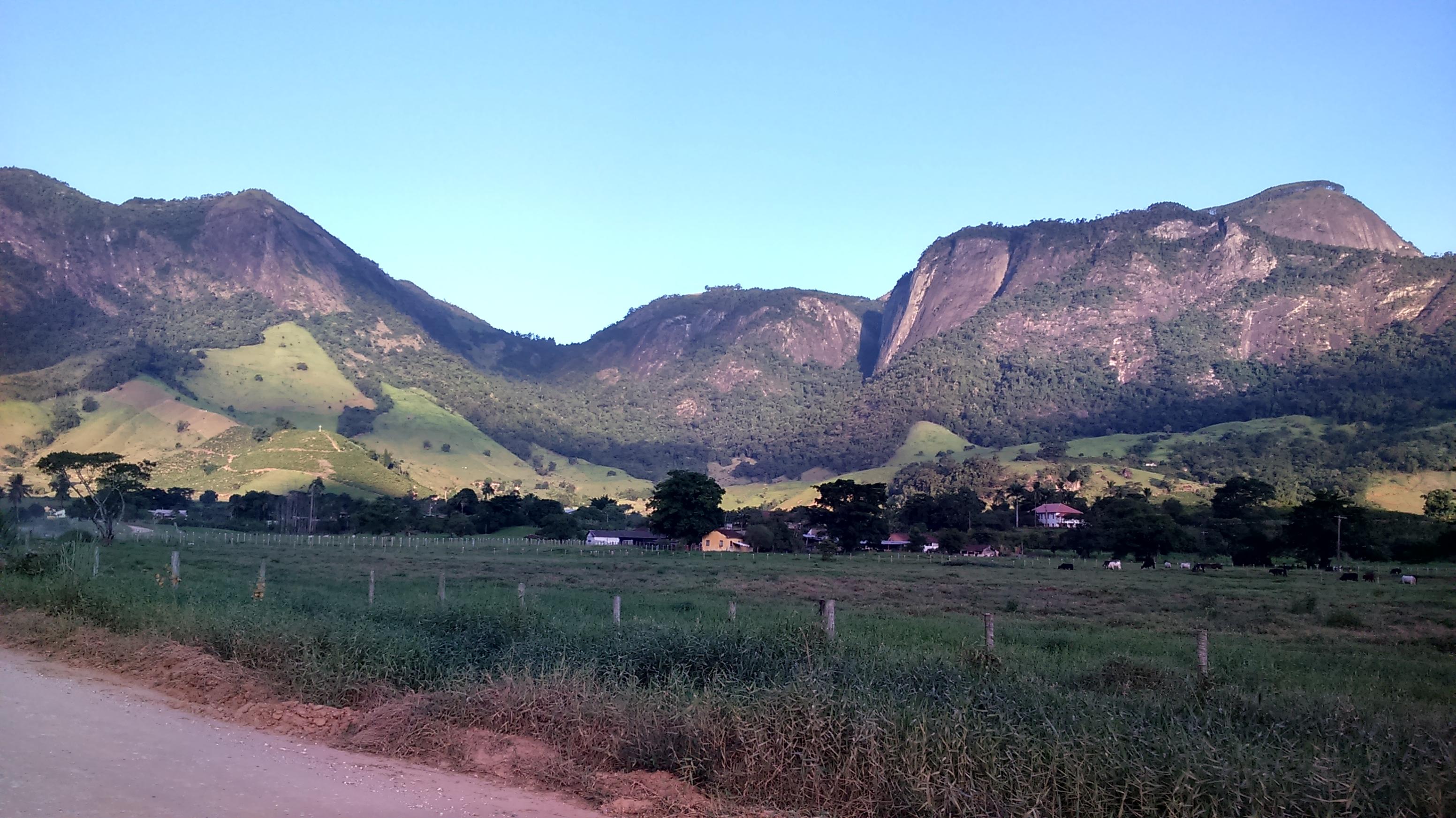 Visual do vale em Castelo - ES