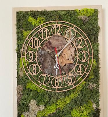 Preserved Moss Wall Clock