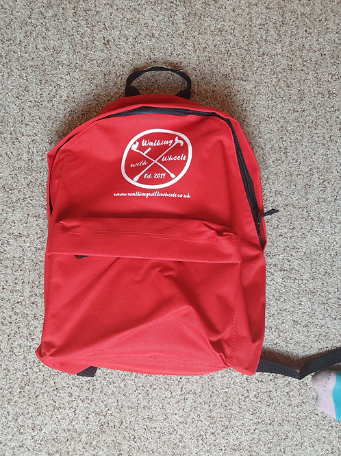 Walking With Wheels Logo Back pack