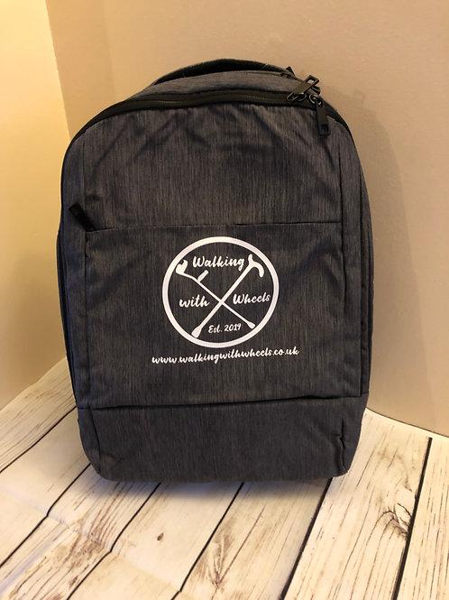 Walking With Wheels Logo tech backpack