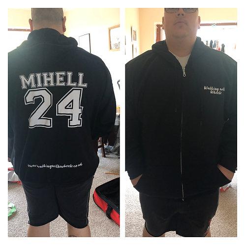 Walking With Wheels unisex zip up hoodie