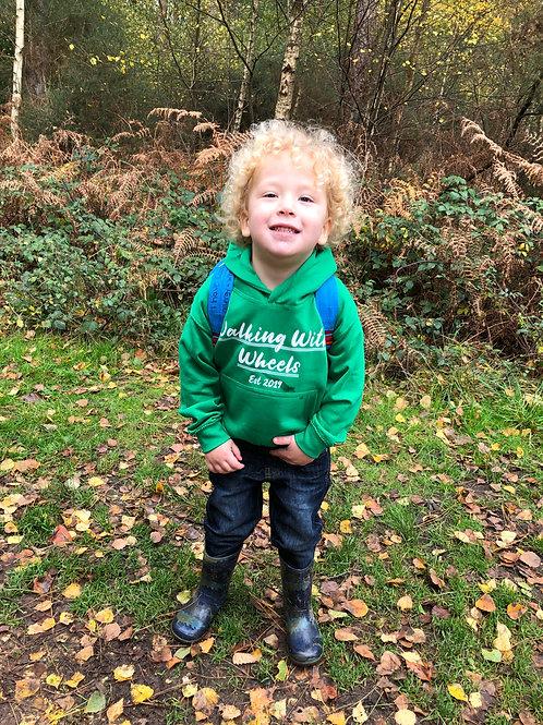 Walking With Wheels Established 2019 Kids hoodie
