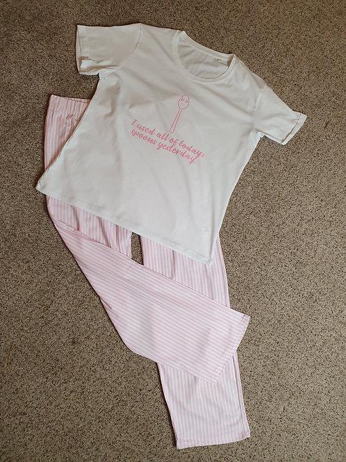 Ladies Sad Spoon Trouser Pyjama's set