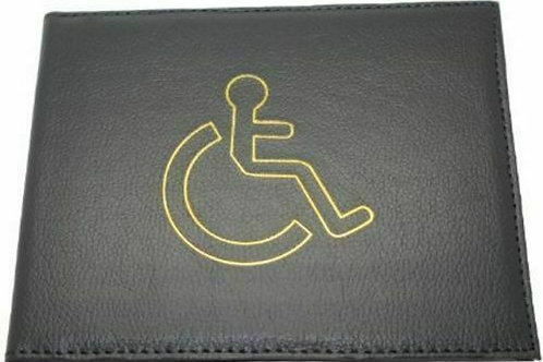 Leather Disabled Blue Badge Holder Cover