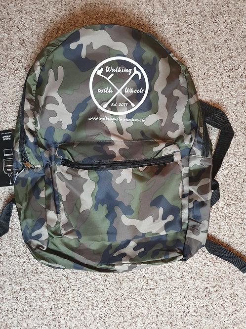 Walking With Wheels Logo backpack
